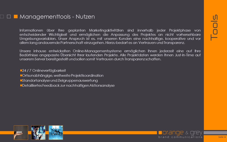Managementtools - Nutzen