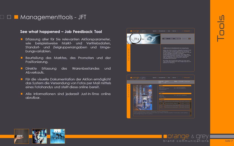 Tools Managementtools - JFT See what happened – Job Feedback Tool