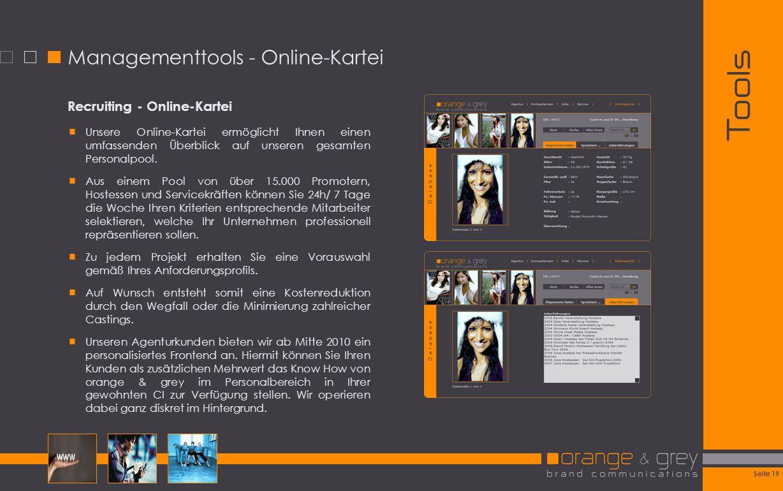 Managementtools - Online-Kartei