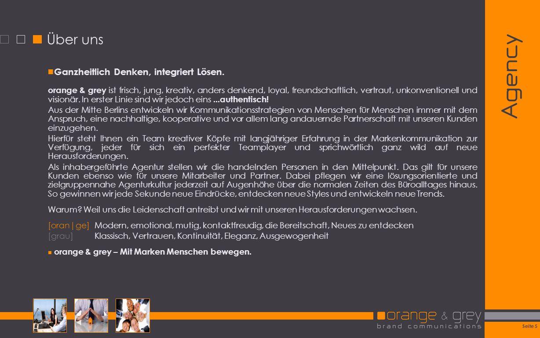 Agency Über uns Ganzheitlich Denken, integriert Lösen.
