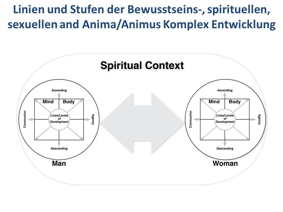 Linien und Stufen der Bewusstseins-, spirituellen, sexuellen and Anima/Animus Komplex Entwicklung