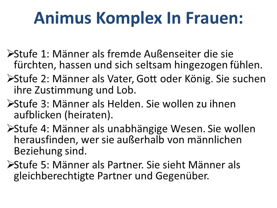 Animus Komplex In Frauen: