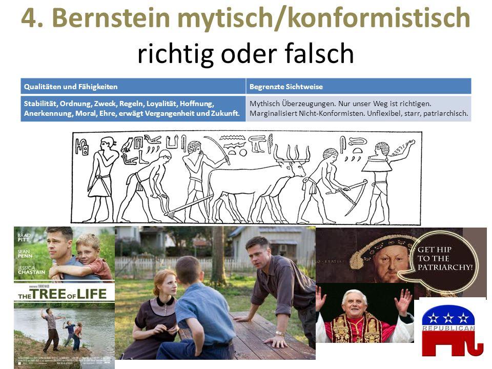 4. Bernstein mytisch/konformistisch richtig oder falsch