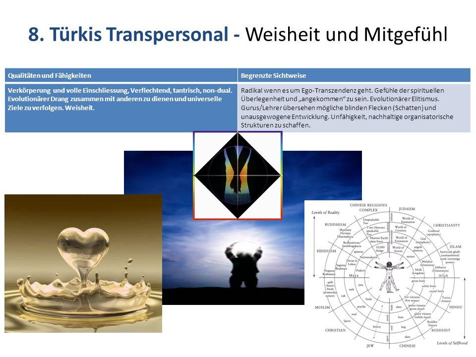 8. Türkis Transpersonal - Weisheit und Mitgefühl
