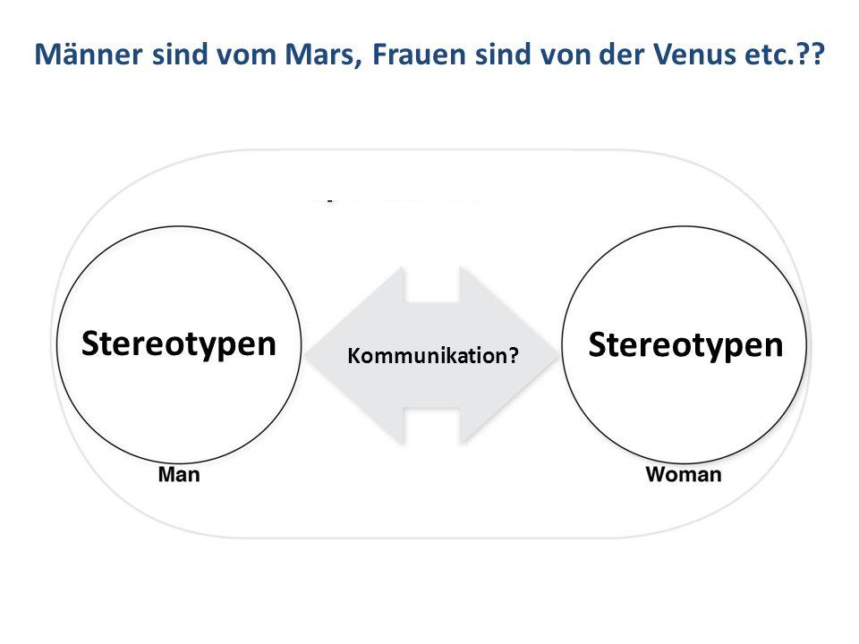 Männer sind vom Mars, Frauen sind von der Venus etc.