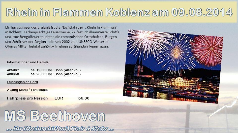 MS Beethoven Rhein in Flammen Koblenz am 09.08.2014