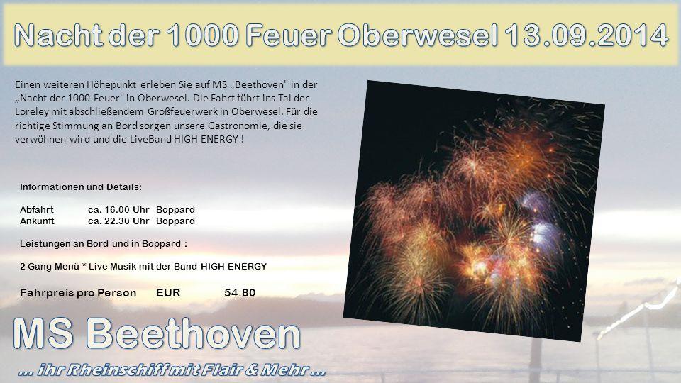 MS Beethoven Nacht der 1000 Feuer Oberwesel 13.09.2014