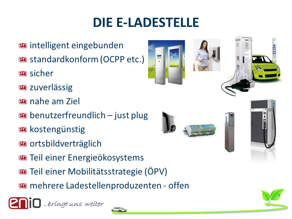 DIE E-LADESTELLE intelligent eingebunden standardkonform (OCPP etc.)