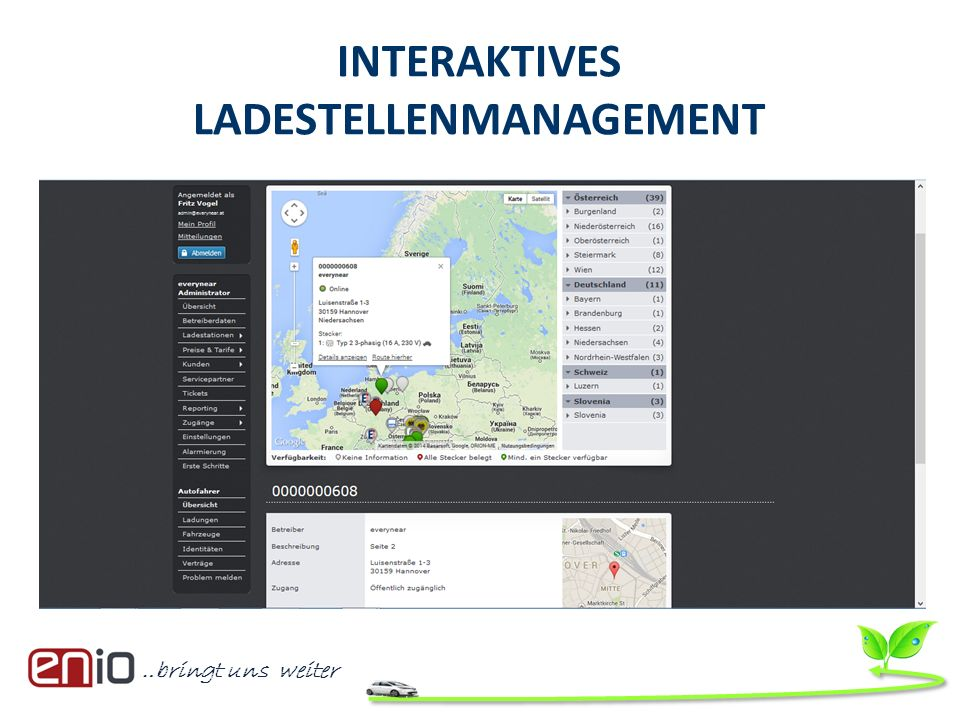INTERAKTIVES LADESTELLENMANAGEMENT