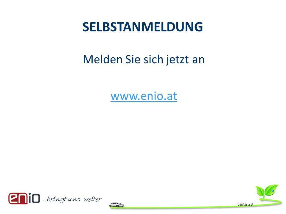Melden Sie sich jetzt an www.enio.at