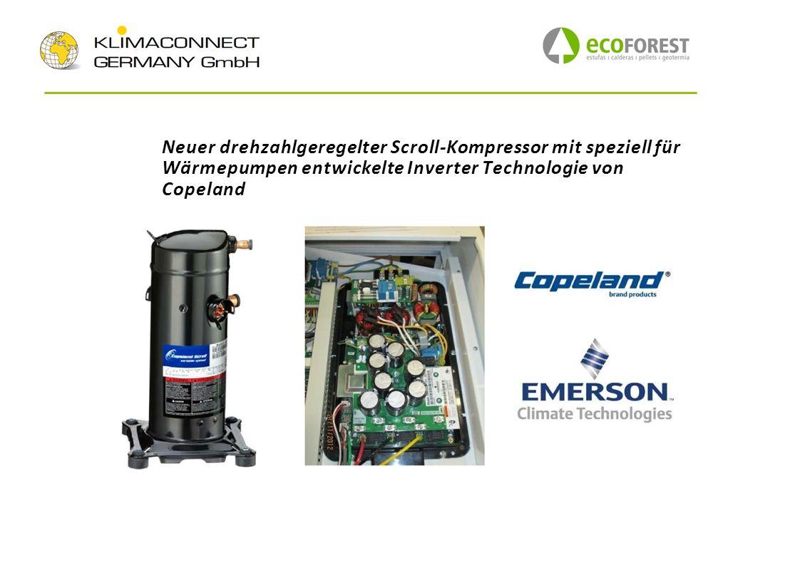 Neuer drehzahlgeregelter Scroll-Kompressor mit speziell für Wärmepumpen entwickelte Inverter Technologie von Copeland