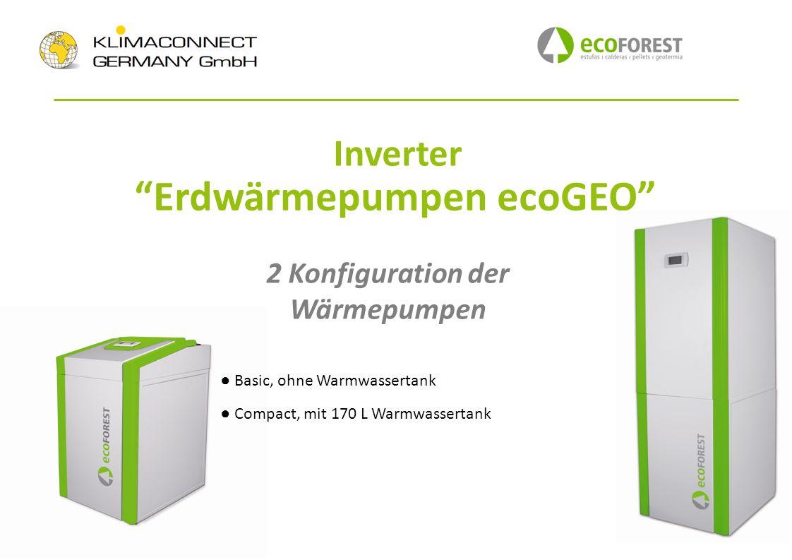 Erdwärmepumpen ecoGEO 2 Konfiguration der Wärmepumpen