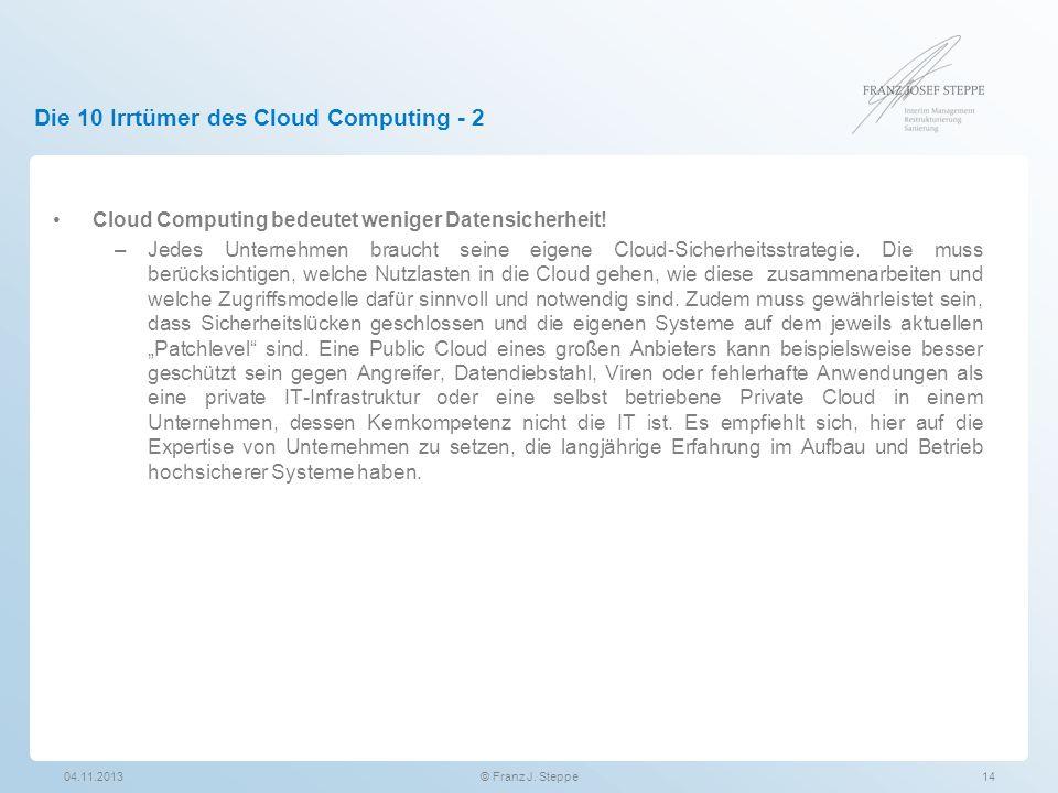 Die 10 Irrtümer des Cloud Computing - 2