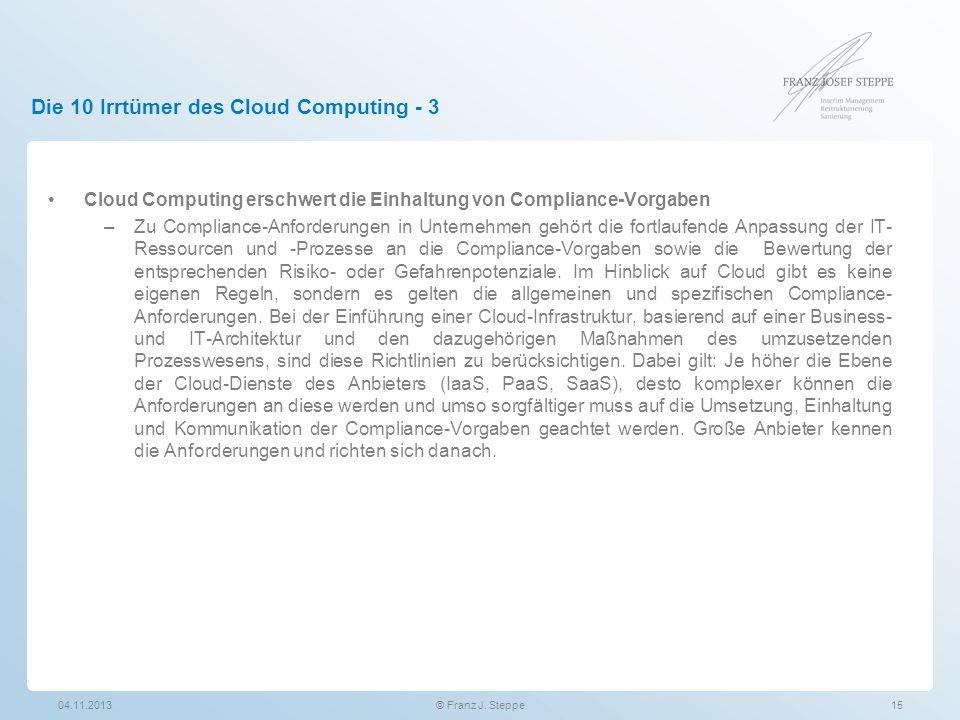 Die 10 Irrtümer des Cloud Computing - 3