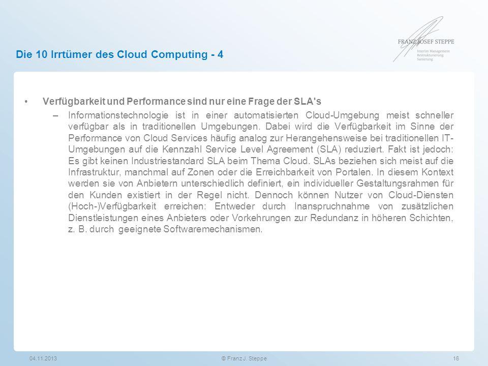 Die 10 Irrtümer des Cloud Computing - 4