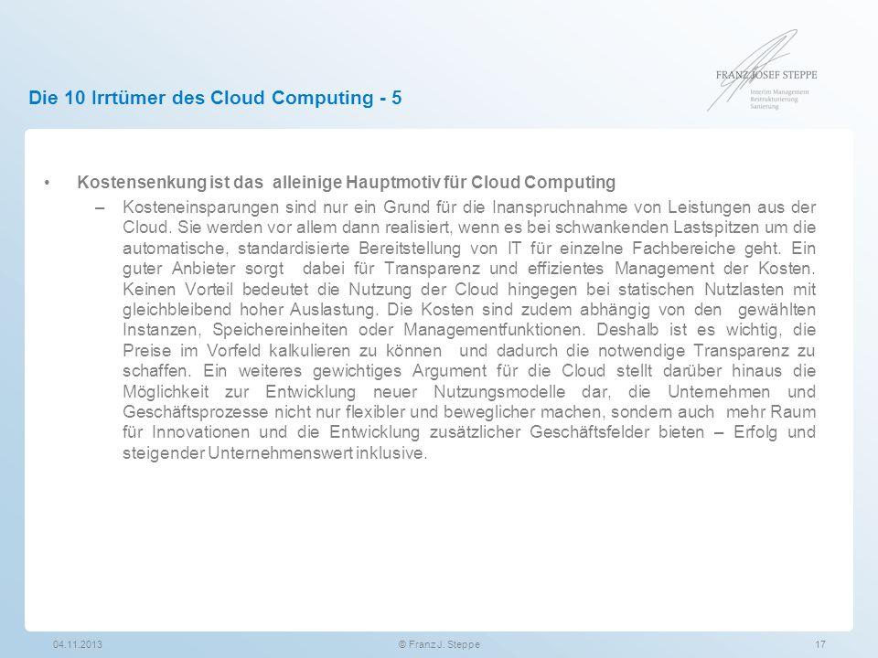 Die 10 Irrtümer des Cloud Computing - 5