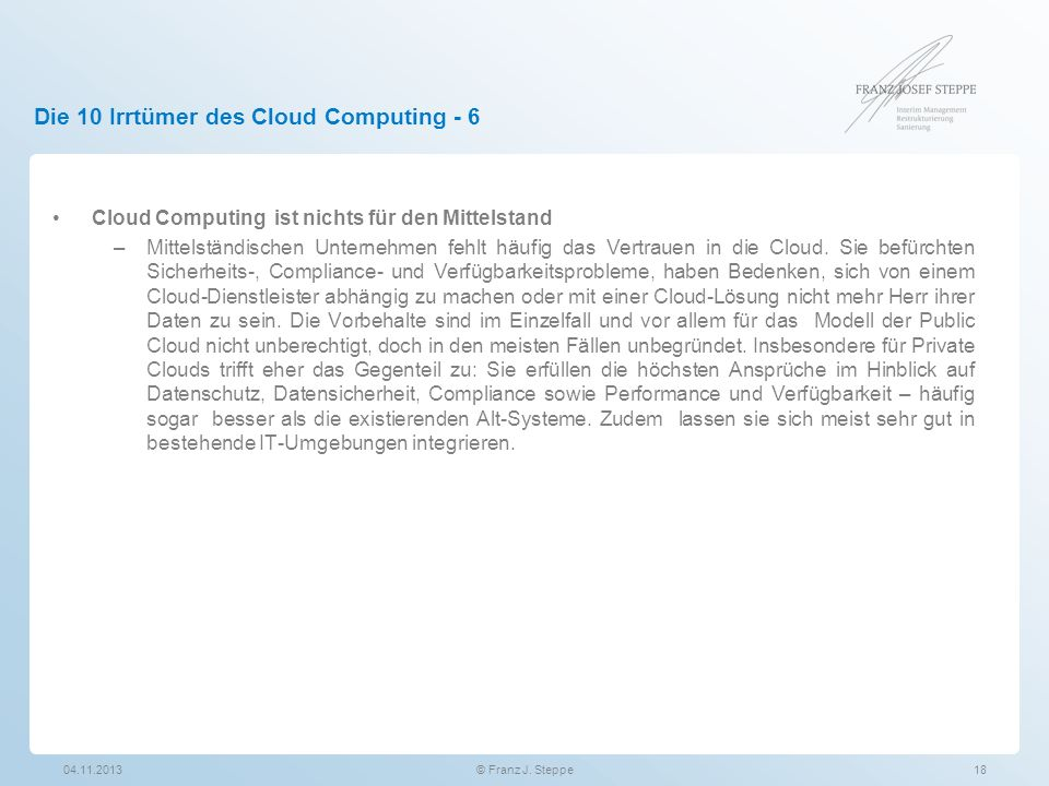 Die 10 Irrtümer des Cloud Computing - 6
