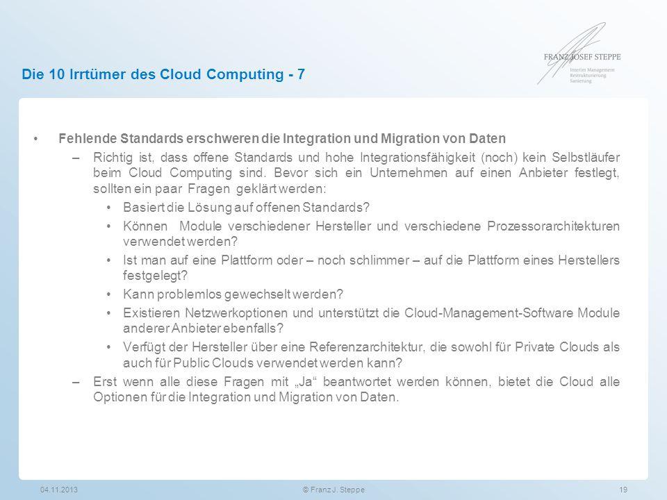 Die 10 Irrtümer des Cloud Computing - 7
