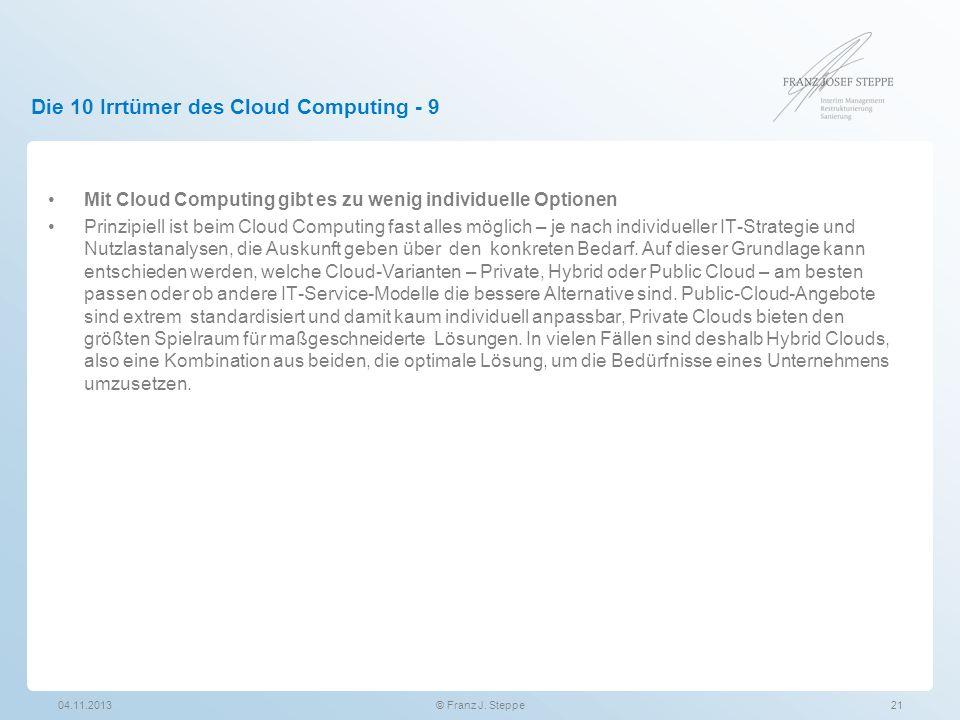 Die 10 Irrtümer des Cloud Computing - 9