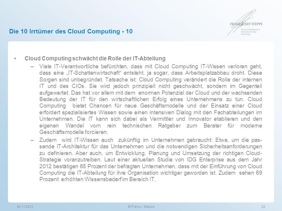 Die 10 Irrtümer des Cloud Computing - 10
