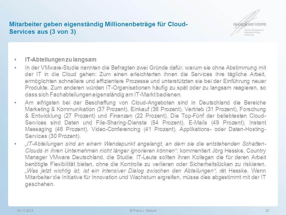 Mitarbeiter geben eigenständig Millionenbeträge für Cloud-Services aus (3 von 3)