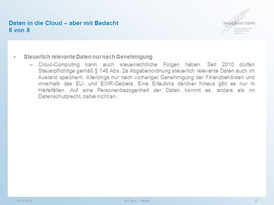 Daten in die Cloud – aber mit Bedacht 8 von 8