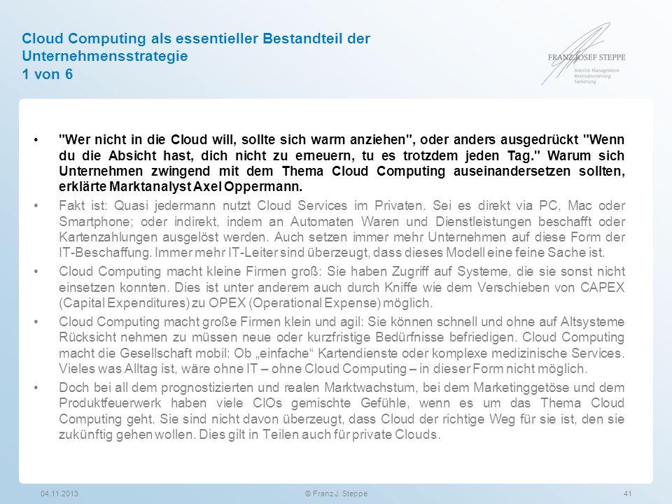 Cloud Computing als essentieller Bestandteil der Unternehmensstrategie 1 von 6