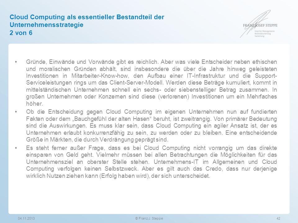 Cloud Computing als essentieller Bestandteil der Unternehmensstrategie 2 von 6