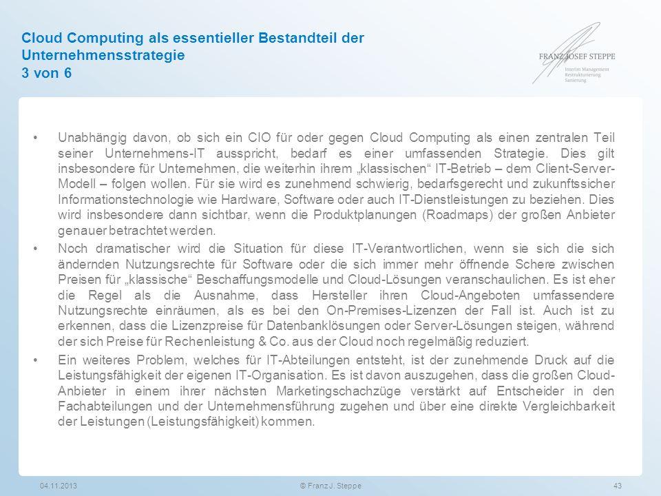 Cloud Computing als essentieller Bestandteil der Unternehmensstrategie 3 von 6