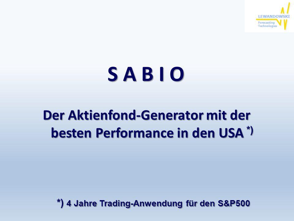Der Aktienfond-Generator mit der besten Performance in den USA *)