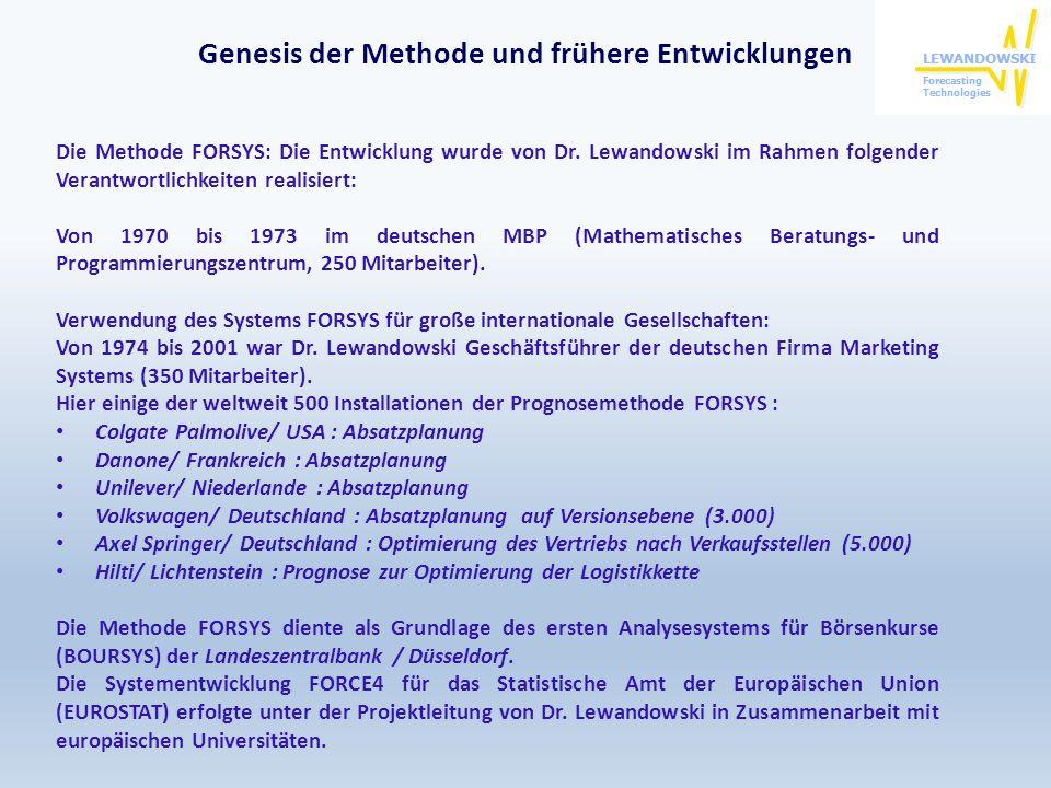 Genesis der Methode und frühere Entwicklungen