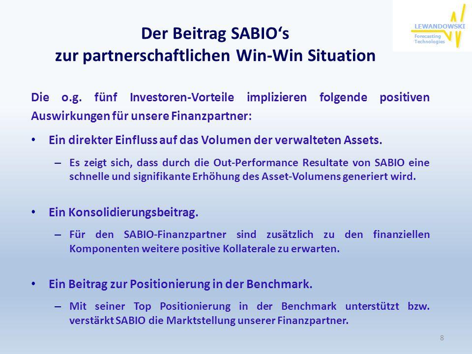 Der Beitrag SABIO's zur partnerschaftlichen Win-Win Situation