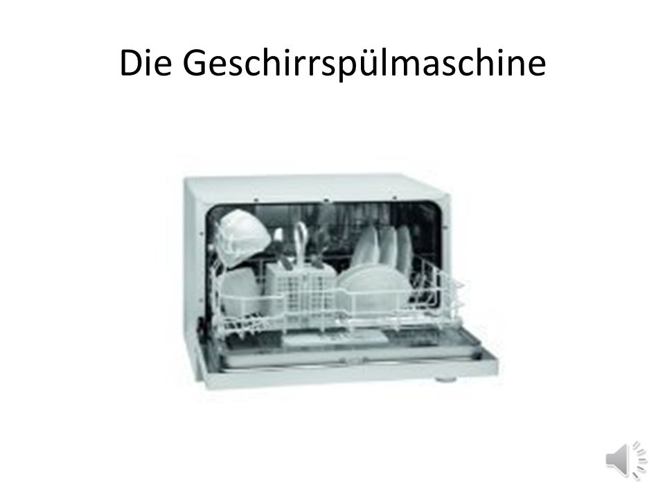 Die Geschirrspülmaschine