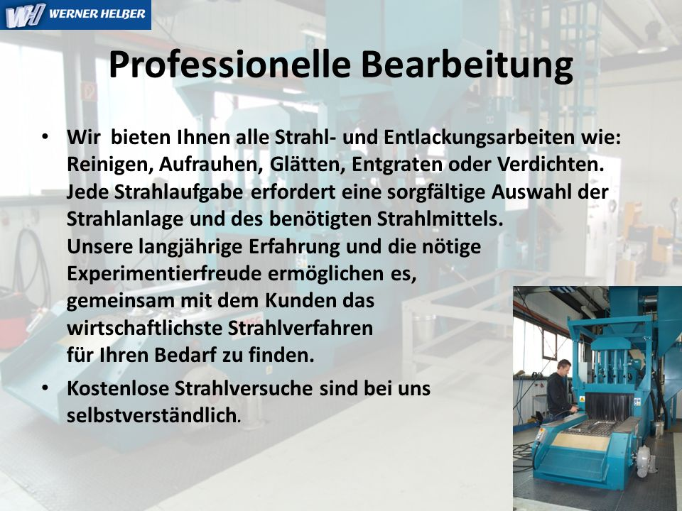 Professionelle Bearbeitung