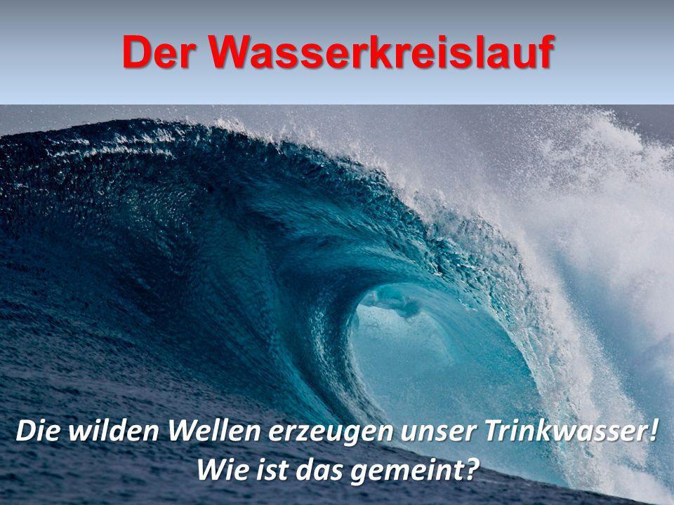 Die wilden Wellen erzeugen unser Trinkwasser!