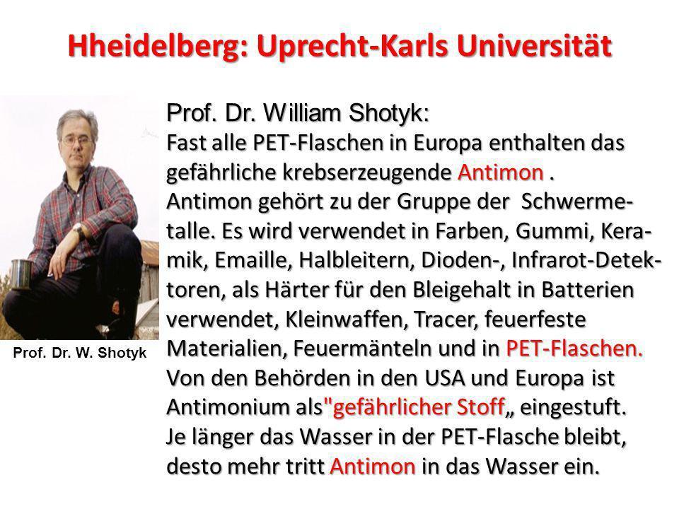 Hheidelberg: Uprecht-Karls Universität