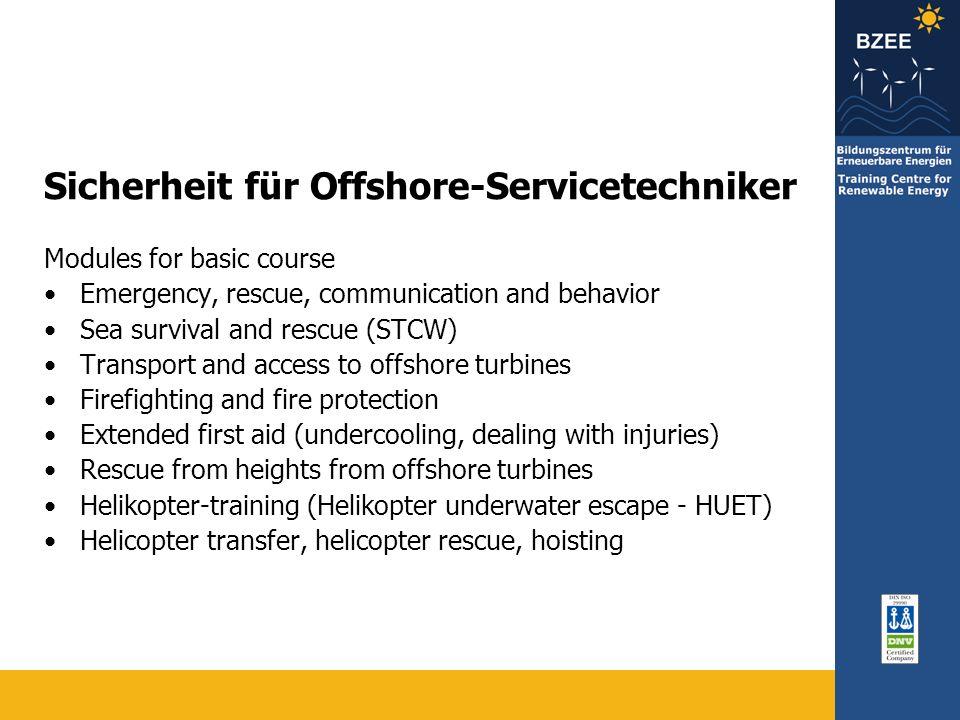 Sicherheit für Offshore-Servicetechniker