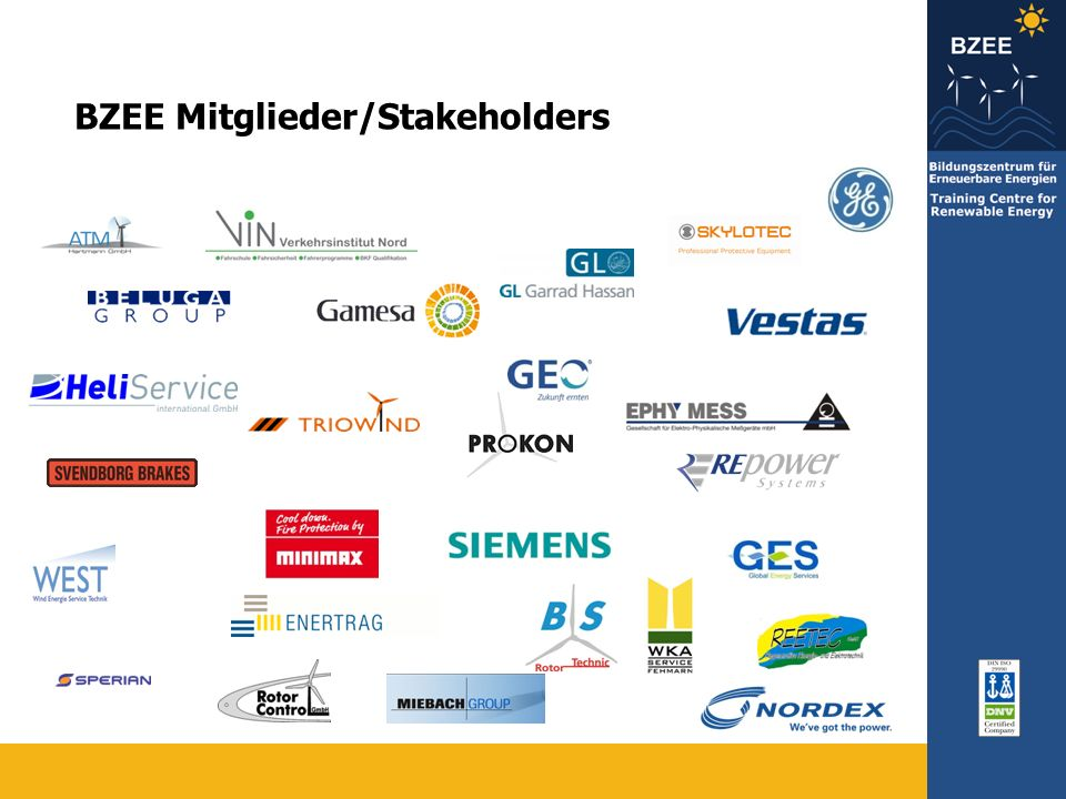 BZEE Mitglieder/Stakeholders