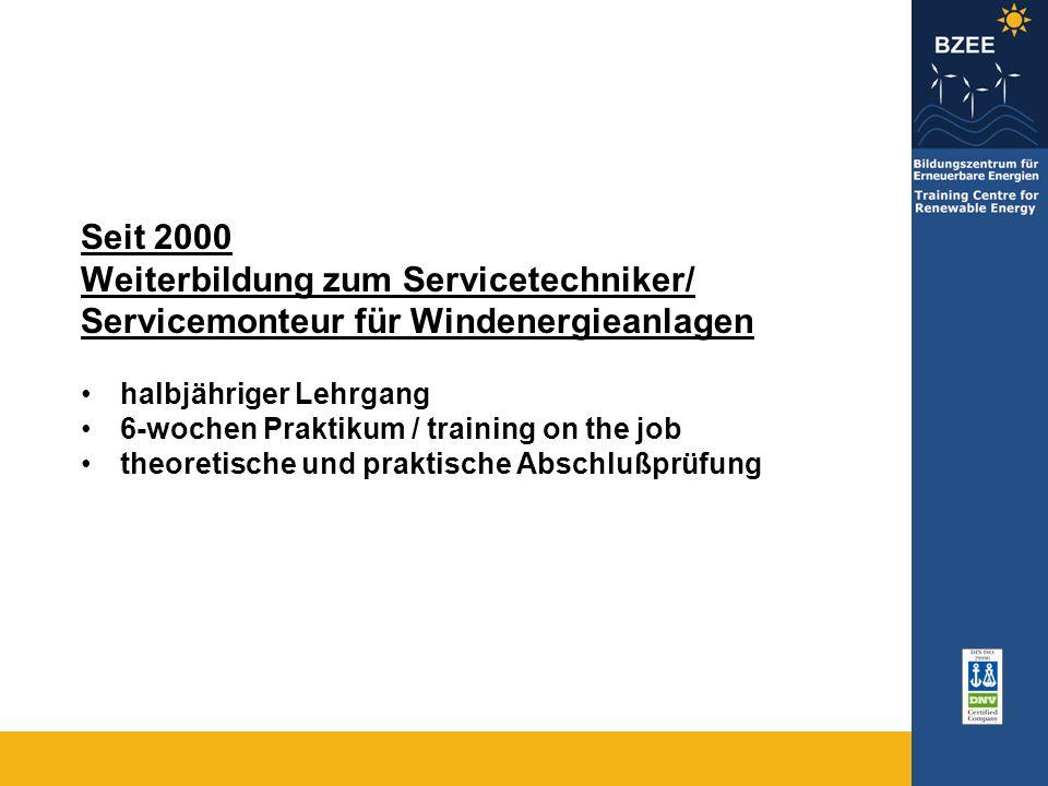 Weiterbildung zum Servicetechniker/