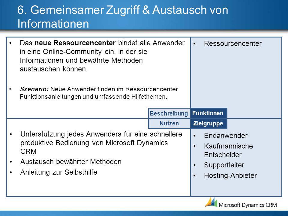 6. Gemeinsamer Zugriff & Austausch von Informationen
