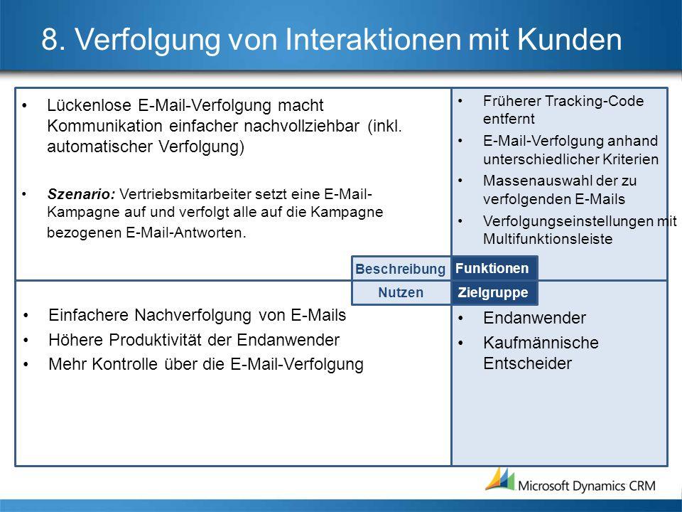8. Verfolgung von Interaktionen mit Kunden