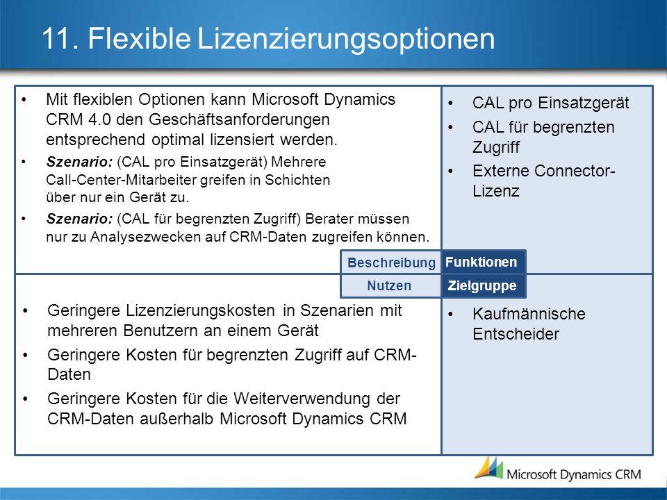 11. Flexible Lizenzierungsoptionen