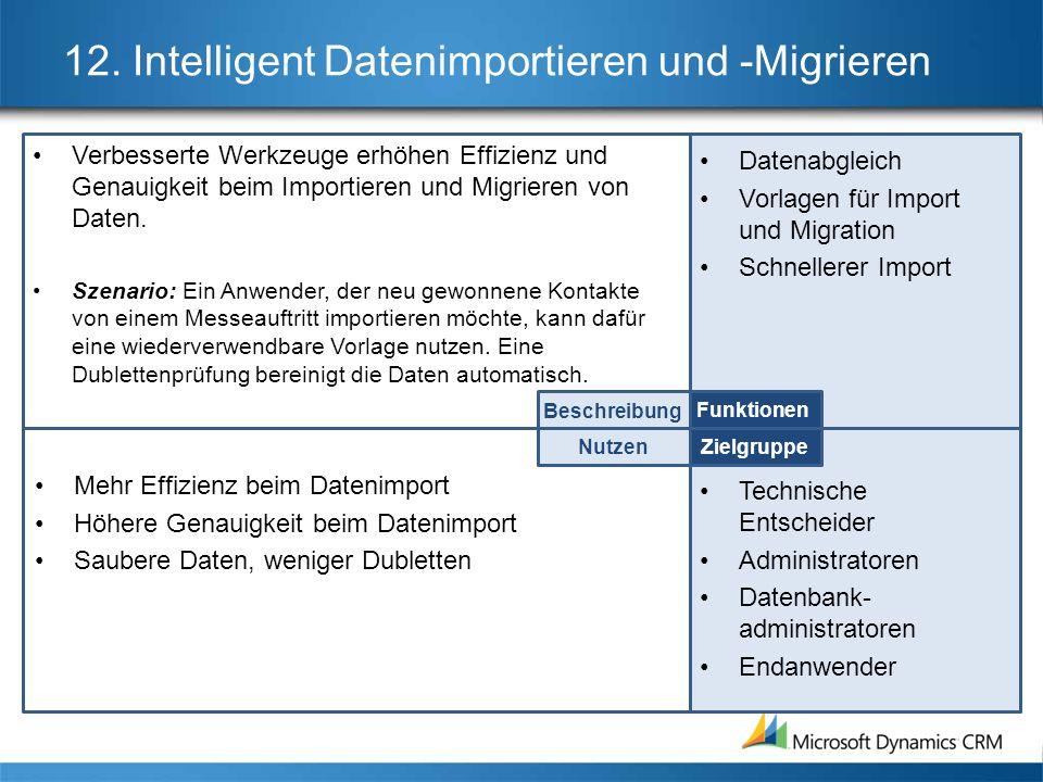 12. Intelligent Datenimportieren und -Migrieren