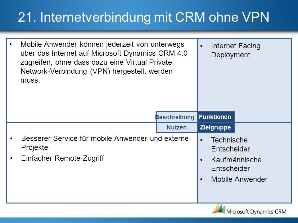 21. Internetverbindung mit CRM ohne VPN