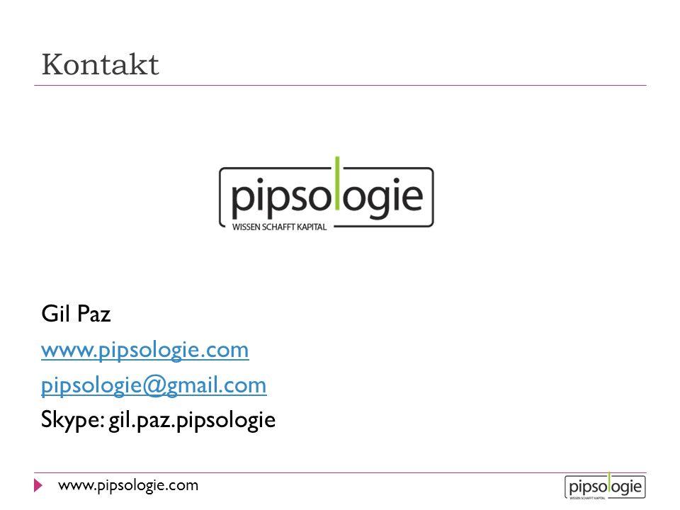 Kontakt Gil Paz www.pipsologie.com pipsologie@gmail.com Skype: gil.paz.pipsologie