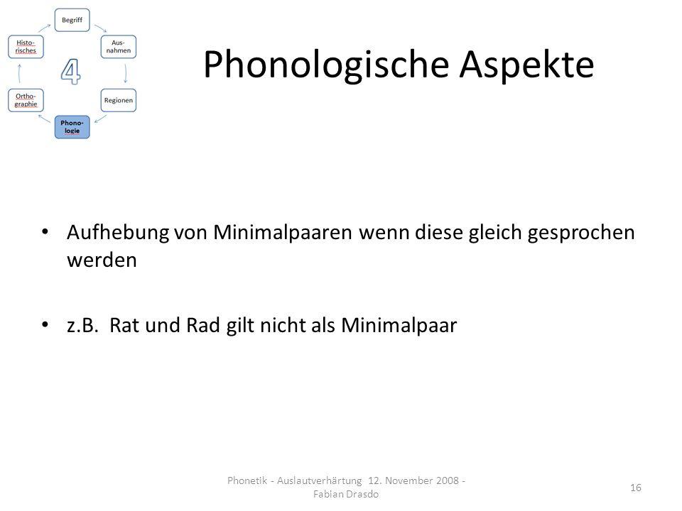 Phonologische Aspekte