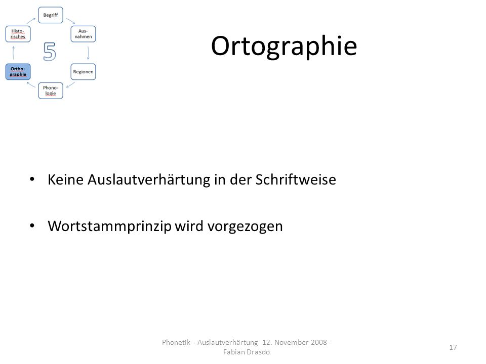 Phonetik - Auslautverhärtung 12. November 2008 - Fabian Drasdo