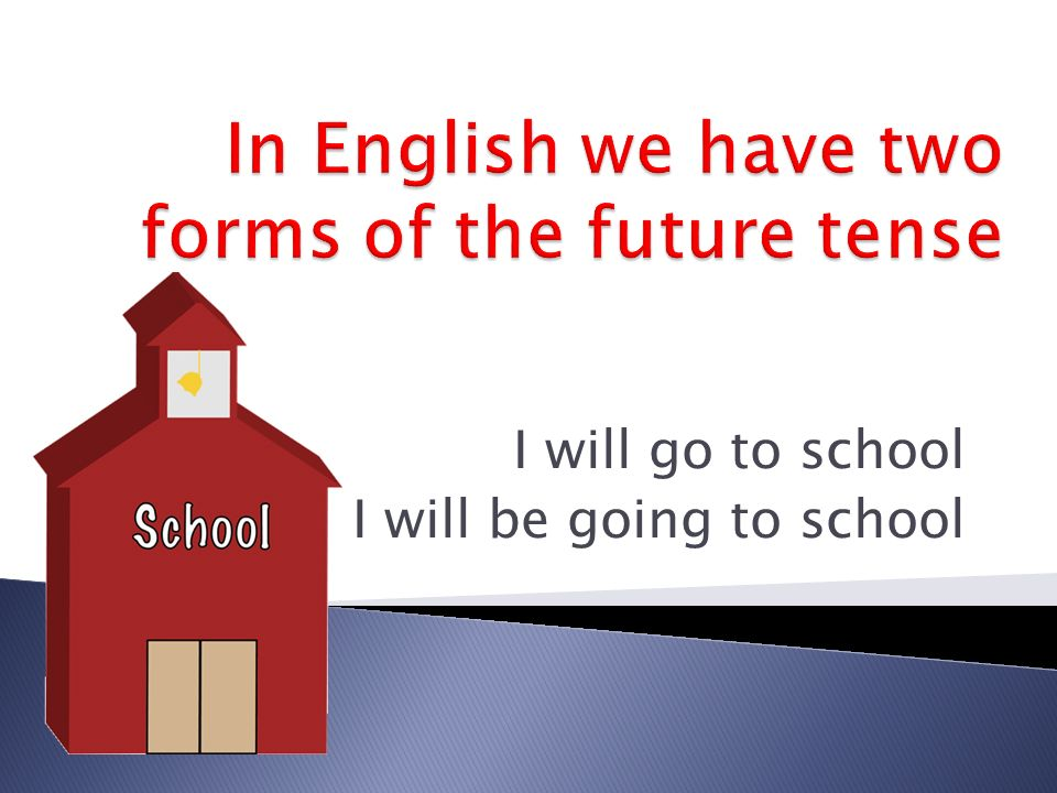 In English we have two forms of the future tense