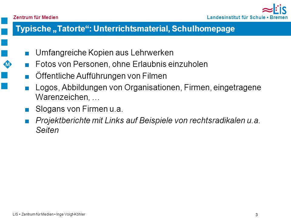 """Typische """"Tatorte : Unterrichtsmaterial, Schulhomepage"""