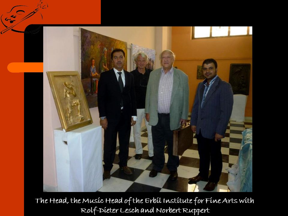 The Head, the Music Head of the Erbil Institute for Fine Arts with